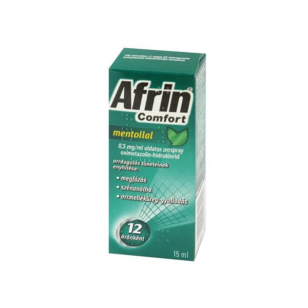 Afrin Comfort mentollal 0,5mg ml oldatos orrspray 15ml
