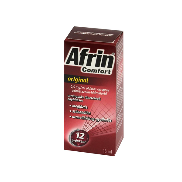 Afrin Comfort original 0,5mg/ml oldatos orrspray 15ml