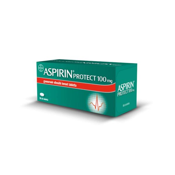 Aspirin Protect 100mg Gyomornedv Ellenálló Bevont Tabletta 98x