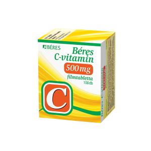 Béres C-Vitamin 500mg filmtabletta 100x