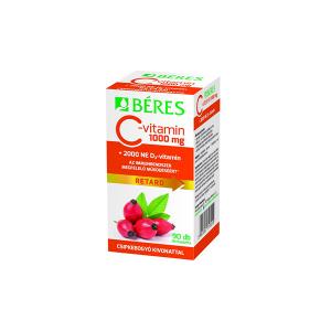 Béres C-vitamin 1000 mg csipkebogyó kivonattal + 2000 NE D3-vitamin retard filmtabletta 90x