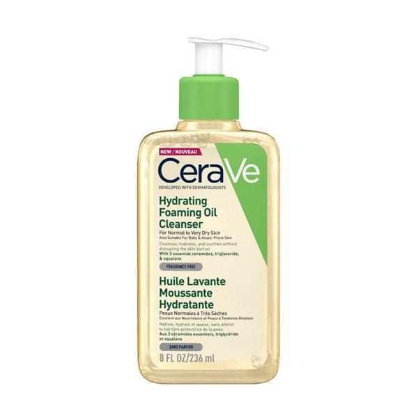 CeraVe hidratáló, habzó, olajos tisztító 236 ml