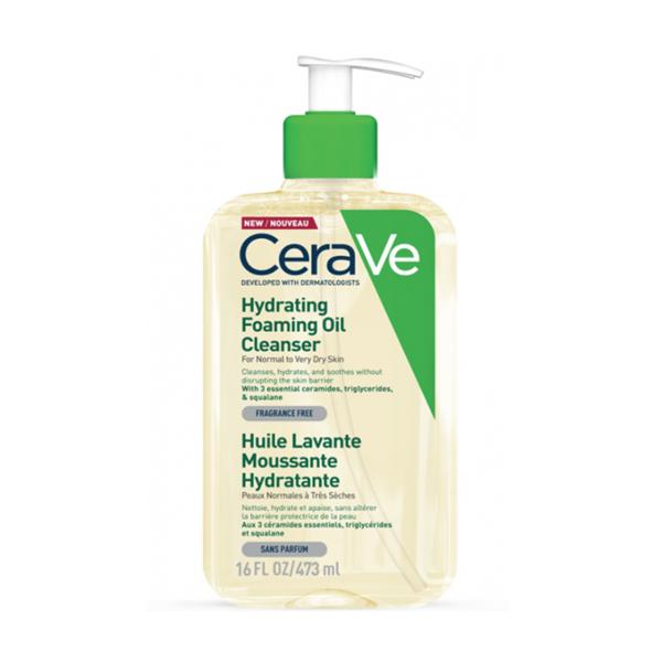 CeraVe hidratáló, habzó, olajos tisztító 473 ml