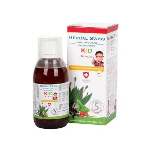 Herbal Swiss Kid Lándzsás útifű-Kakukkfű étrend-kiegészítő folyadék 150ml