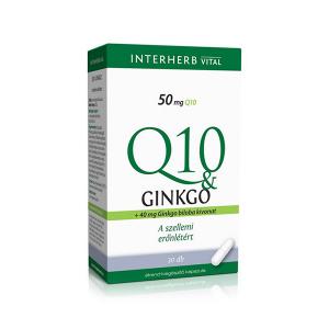 Interherb Q10 és Ginkgo Biloba extraktum 30x