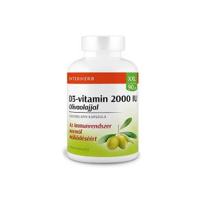 Interherb XXL D3-vitamin 2000IU kapszula 90x
