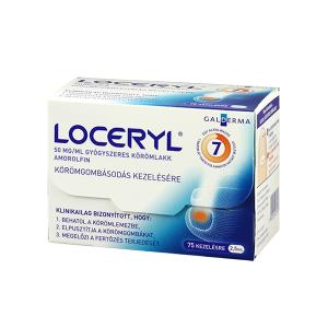 Loceryl 50mg/ml gyógyszeres körömlakk 2,5ml