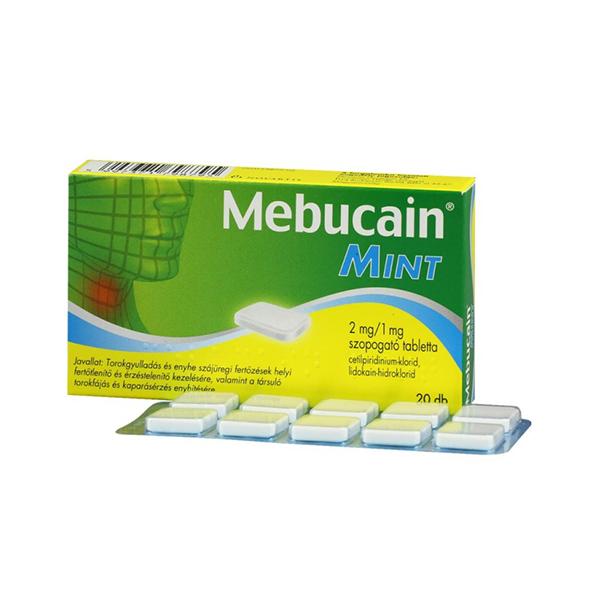 Mebucain Mint 2mg 1Mg Szopogató Tabletta 20X
