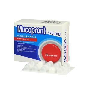 Mucopront 375 mg kemény kapszula 50x