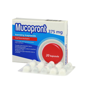 Mucopront 375mg kemény kapszula 20x