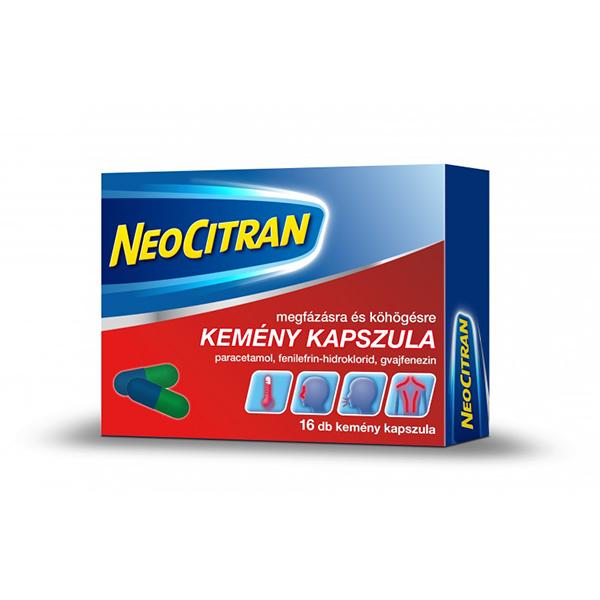 Neo Citran Megfázásra és Köhögésre Kemény Kapszula 16db