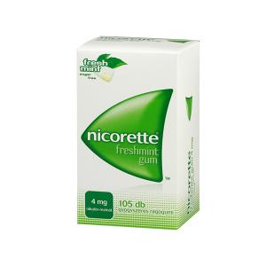 Nicorette Freshmint Gum 4mg Gyógyszeres Rágógumi 105X