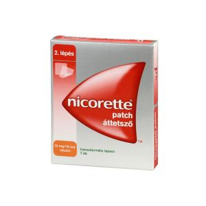 Nicorette Patch 15mg/16H Transzdermális Tapasz 7X