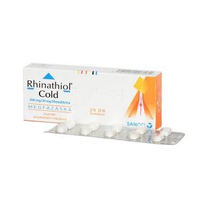 Rhinathiol Cold 200mg/30mg Filmtabletta 20X