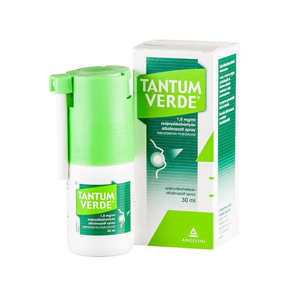 Tantum Verde 1,5mg/ml Szájnyálkahártyán Alkalmazott Spray 1x30ml