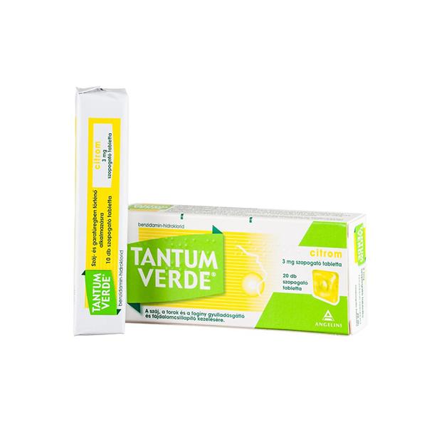 Tantum Verde Citrom 3mg Szopogató Tabletta 20x