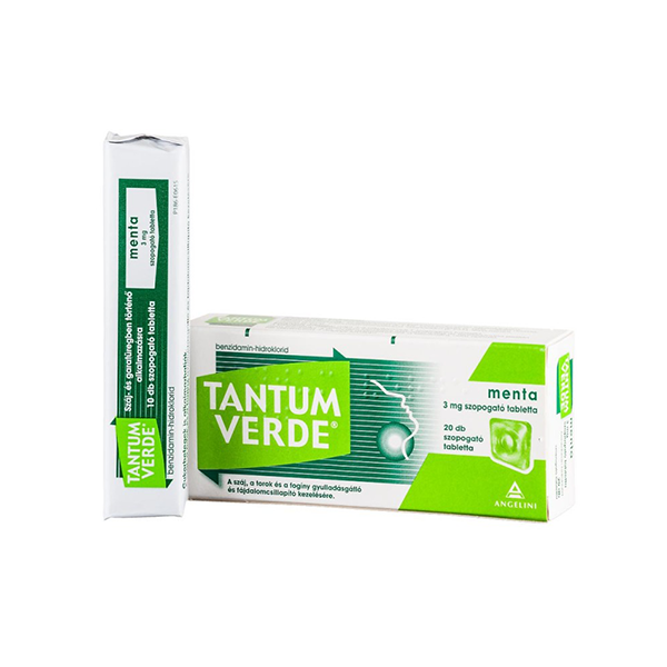 Tantum Verde Menta 3mg Szopogató Tabletta 20x