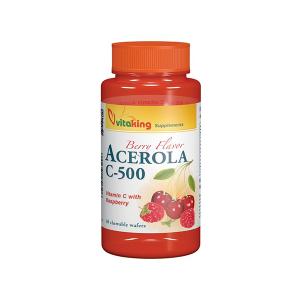 Vitaking Acerola C-500 komplex rágótabletta 40x