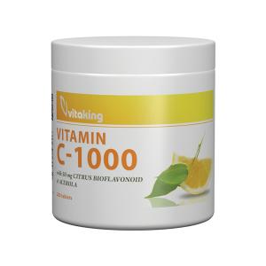 Vitaking C-vitamin 1000mg Bioflavonoid, acerola, csipkebogyó tabletta 200x