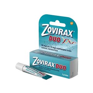 Zovirax Duo 50mg/g és 10mg/g Ajakherpesz Krém 2g